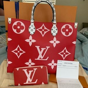 Louis Vuitton Onthego & Zippy Wallet Set